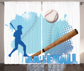 Baseball-Sport-Karikatur Vorhang