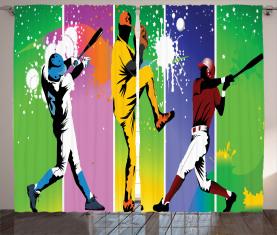 Baseball-Schmutz-Spritzen Vorhang