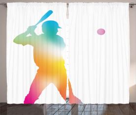 Baseballspieler Vorhang