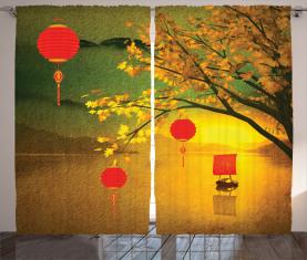Traditionelles Chinesisch Vorhang