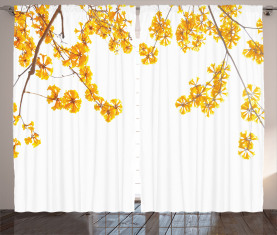 Blühender Blumengarten Vorhang