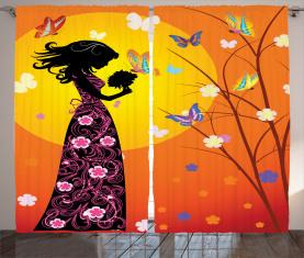 Blumenkleid Kunstvoll Vorhang