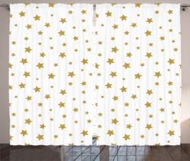 Gelbe Sterne Muster Vorhang