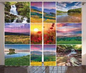 Sommer-Heimat-Landschaft Vorhang