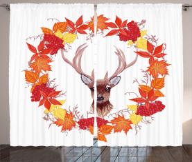 Herbstlaub-Kranz-Kunst Vorhang