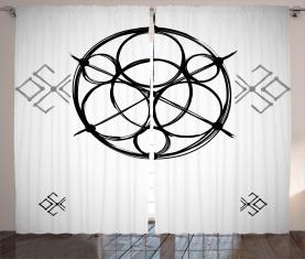 Abstrakte Kreise Vorhang