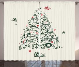 Baum und Feen Vorhang