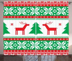 Ferienzeit Deer Vorhang