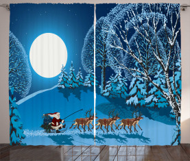 Santa Winterwald Vorhang