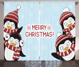 Süße Pinguine Kinder Vorhang