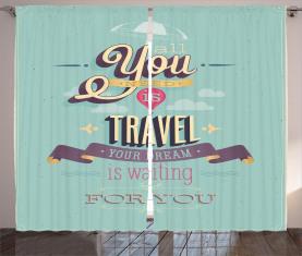 Reisen Reise Thema Angebot Vorhang