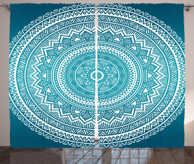 Mandala-Blumen Vorhang