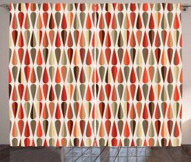 70er Jahre Retro-Stil Vorhang