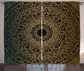 Kaleidoskopisches Universum Zeichen Vorhang