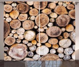 Holzscheite Eiche Vorhang