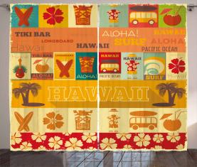 Alte Reisekarten Vorhang