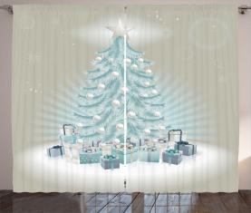 Weihnachtsbaum-Geschenke Vorhang