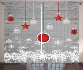 Sterne Flitter Schnee Vorhang