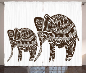 Ornamental Elefant heilig Vorhang