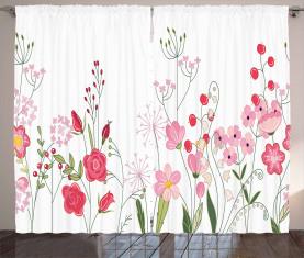 Blumen Beeren und Kräuter Vorhang