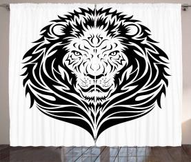 Löwe-Porträt Vorhang