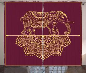 Afrikanische Tier Mandala Vorhang