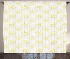 Chrysantheme und Dahlie Vorhang