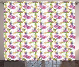 Lavendel und Pfingstrosen Vorhang