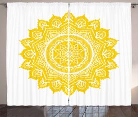 Damast-Stil-Motiv Vorhang