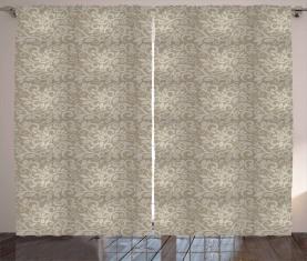 Blumen-Wirbel-Kurven Vorhang
