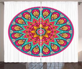 Geometrisches Herz-Laub Vorhang