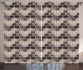 Hexagon Mosaik Bohemian Vorhang
