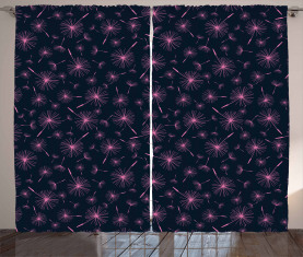 Vibrierende rosa Pflanze Vorhang