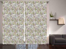 Persergurken verziert Vorhang