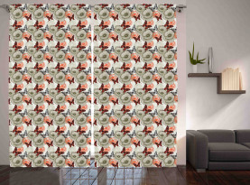 Poppies and Butterflies Curtain