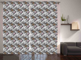 Monarch Butterfly Retro Curtain