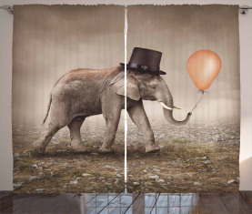 Illusionist Elefant Vorhang