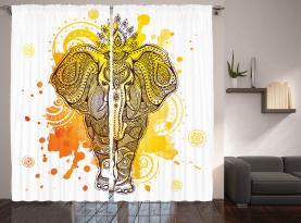 Aztekische dekorative Kunst Vorhang