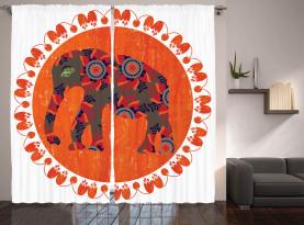 Asiatisches Gekritzel vibrierend Vorhang