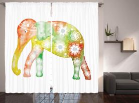 Elefant Daisy Blume Vorhang