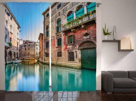 Italien Stadtwasserkanal Vorhang