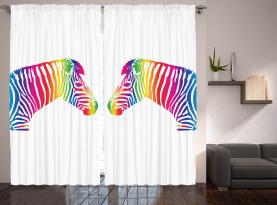 Zebra bunte gestreift Vorhang