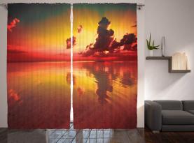 Sonnenaufgang Wasser Reflexion Vorhang