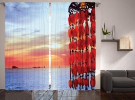 Traumfänger Ibiza Sonnenuntergang Vorhang
