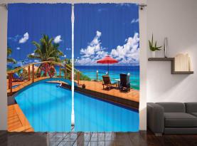 Meer Pool Strandurlaub Vorhang