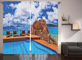 Ferien Resort Ozean Vorhang