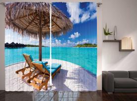 Sonnenbetten Flitterwochen Vorhang