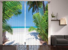 Palm Leaf tropischen Strand Vorhang