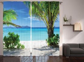 Idyllisches Oceanic Resort Vorhang