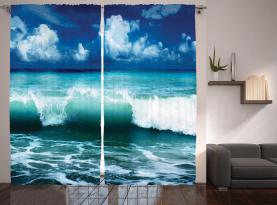 Karibik Seascape Wellen Vorhang